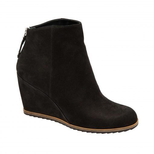 WESLEY   Casual and Modern Mid Height Wedge Ankle Booties in Leather or Nubuck