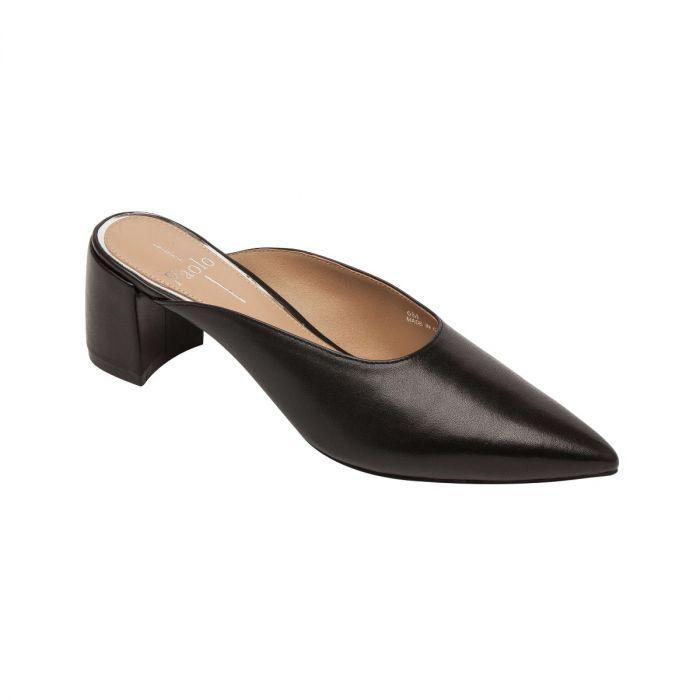 ZADIE| Svelte Almond Toe Mid Block Heel Mule