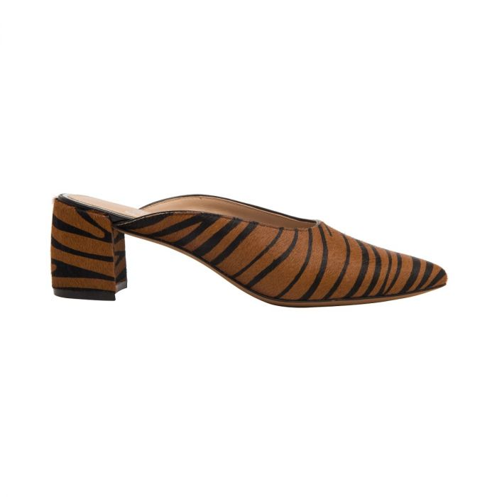 ZADIE II | Svelte Almond Toe Mid Block Heel Mule