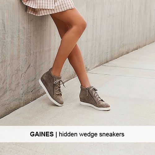 GAINES hidden low wedge booties